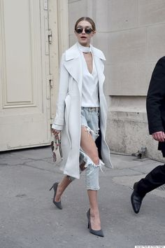 Gigi Hadid Dresses Up Her Ripped Jeans Like A Pro