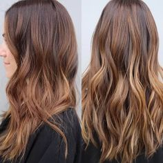 50 Vibrant Fall Hair Color Ideas to Accent Your New Hairstyle in 2019 Haar mit Karamell - Highlights Dark Ombre Hair, Best Ombre Hair, Ombre Hair Color, Blonde Color, Carmel Hair Color, Hair Color Auburn, Auburn Hair, Dark Auburn, Balayage Auburn