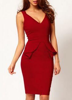 wholesale Graceful Sleeveless Zipper Closure V Neck Woman Dress