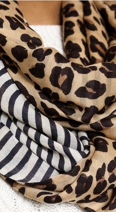 Leopard print & stripe infinity scarf http://rstyle.me/n/n8dddnyg6