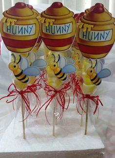 Winnie the Pooh Bear Marshmallow Party Favors by SOUTHFLOWER