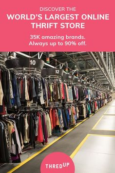 thredUP is the world's largest online thrift store where you can buy and sell high-quality secondhand clothes. Find your favorite brands at up to off. Thrift Store Outfits, Thrift Store Shopping, Online Thrift Store, Thrift Stores, Cheap Shopping, Shopping Places, Fall Outfits, Casual Outfits, Cute Outfits