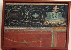 Pompeii Ruins, Rose Crown, Satyr, Crocodiles, Acanthus, Ancient Rome, Roman Empire, Fresco, Worship
