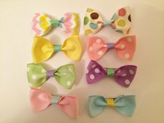 Pastel tuxedo bows. https://www.etsy.com/listing/225497558/baby-girl-easter-spring-time-tuxedo-hair?ref=shop_home_active_1