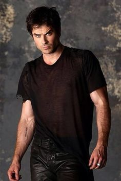 Ian - The arm veins, the hair, the eyes, the body, gorgeous in black, this man is so damn perfect!