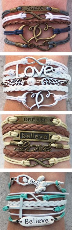 Our best selling layered charm bracelets - over 100 other designs in a variety of colors and designs. So many choices you'll want more than one!