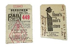 All sizes | Red Sox raincheck 1956 | Flickr - Photo Sharing!