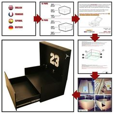 Plans to build your own giant shoes box storage!
