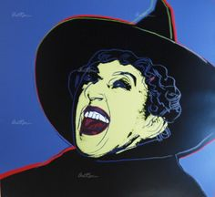 Bid now on The Witch (from the Myths portfolio) by Andy Warhol. View a wide Variety of artworks by Andy Warhol, now available for sale on artnet Auctions. Andy Warhol Pop Art, Andy Warhol Flowers, The Witcher, Eyes Closed, Online Katalog, Wicked Witch, Yorkie, Online Art, Screen Printing