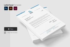 Letterhead Template in Corporate Identity Templates on Yellow Images Creative Store