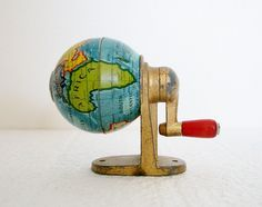 Globe - 1950s Novelty Pencil Sharpener - Germany