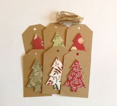 Christmas tags Christmas tree gift tags by DesignedbyAnneliese