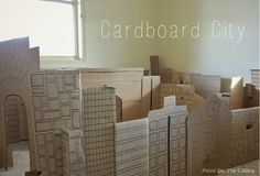Indoor Cardboard City Play Space: could be a v.cool way to enclose the role play/small world in a small classroom