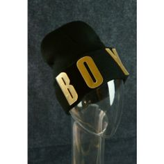 BOY Beanie Hat Hiphop Mirrored Letter Beanie Trend Fashion Black & Gold  $14 Only  www.monrevecollection.com