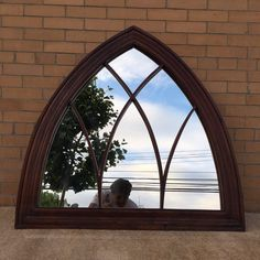 Large Vintage Gothic Window mirror Church Arch by TocaNycStore