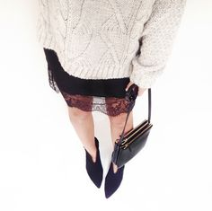 comfy knits and lace trim (image: thefashionspot)