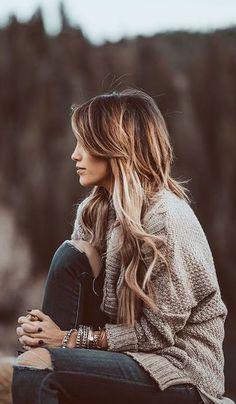 #fall #fashion / knit + denim