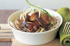 Get out the chopsticks and dive into a bowl of slippery noodles and sweet, sticky chicken!