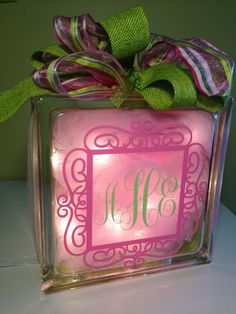 Hey, I found this really awesome Etsy listing at https://www.etsy.com/listing/221889452/baby-girl-or-baby-boy-monogram-glass