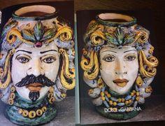 DOLCE & GABBANA RACCONTA LA CULTURA SICILIANA: LE TESTE DI MORO DI CALTAGIRONE E LA LORO STORIA. - My Urban Bon Ton Sicily Italy, Moorish, Photography Projects, Sicilian, Ceramic Pottery, Art School, Ceramics, Portrait, Urban