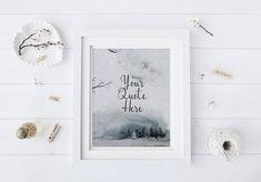 winter printable art custom quote printable chrismas wall art