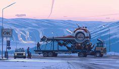 Simon Stålenhag's Retro Sci-Fi Images of a Dystopian Swedish Countryside Gathered Into Two New Books (Colossal) Ralph Mcquarrie, Wallpaper Keren, Wallpaper Pc, Digital Painter, Digital Paintings, Digital Art, Sci Fi Genre, Concept Art World, Colossal Art