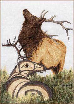 Elk - Cross Stitch Pattern