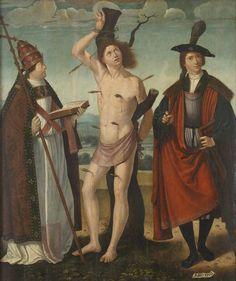 Juan de Borgoña Saints Gregory, Sebastian and Thyrsus 16th century