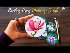 Step by Step acrylic painting on Canvas for beginners Magnolia painting   Art Flowervase Painting - YouTube Acrylic Painting Canvas, Painting Art, Magnolia, Painted Cakes, Mini Canvas, Flower Vases, Lovers Art, Canvases, Youtube