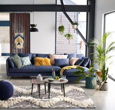 Les 28 Meilleures Images De Deco Canape Bleu Mobilier De