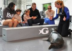 JLo and family take a behind-the-scenes tour at the Georgia Aquarium
