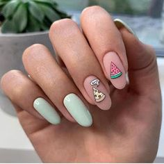 Impressive and Beautiful Nail Art for This Winter * 14 nail art designs,nail art summer,nail art diy,nail art facile,nail art winte. Best Acrylic Nails, Summer Acrylic Nails, Gel Nail Art, Summer Nails, Nail Nail, Red Nail, Black Nail, Cute Nails For Spring, Easy Nails