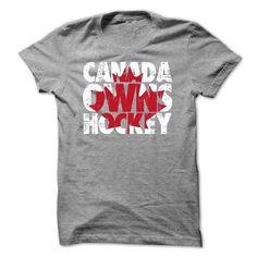 Canada Owns Hockey T Shirts, Hoodies, Sweatshirts. CHECK PRICE ==► https://www.sunfrog.com/Sports/Canada-Owns-Hockey-ik5m.html?41382
