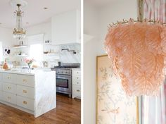 My House Tour on Style Me Pretty Y'All…and My Last Post of Sorts | Christine Dovey  the island, the chandelier, the carerra, the gold hardware oooooo