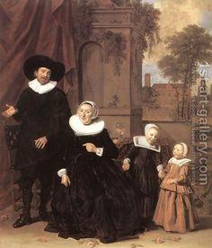 Family Portrait c. 1635 by Frans Hals