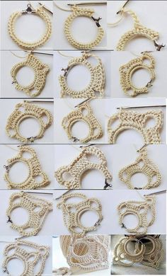 Crochet Earrings 2 by Preetho *Crochet colliers and earrings ect* / von Jacqueline Bäbler Risultati immagini per crochet earrings pattern 1 2 3 The earrings are crochet 1 2 3 The earrings are crocheted accessories increasingly trendy, this circle model i Crochet Earrings Pattern, Crochet Jewelry Patterns, Crochet Bracelet, Bead Crochet, Crochet Accessories, Crochet Motif, Tatting Earrings, Tatting Jewelry, Diy Earrings