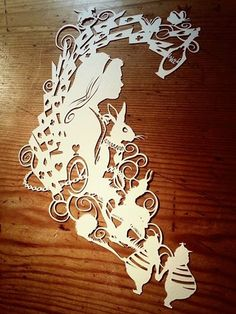 Alice In Wonderland Original by PaperPandaCuts.deviantart.com on @deviantART