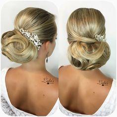 Updos/ braids/ big braids/ bridal hair/ bridal Updos/ bridal styles/ Upstyles/ wedding hair/ brides/ Lalasupdos / Romantic hairstyles/ down do's /