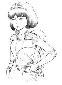 Yoko Tsuno crayonné 3