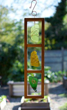 Suncatcher Stained Glass Cedar Copper Sun Catcher