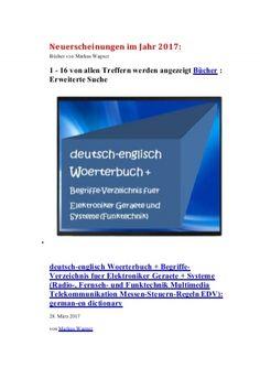 Elektroniker Geraete + Systeme: englisch