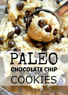 Chocolate chip cookie recipe #paleo #glutenfree