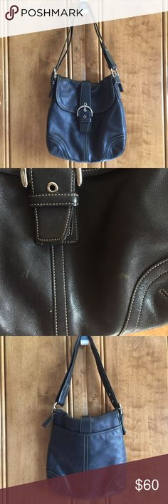 """Coach bag Black coach bag. About 10.5"""" tall by 10.5"""" wide (measured in the middle) Coach Bags Shoulder Bags"""