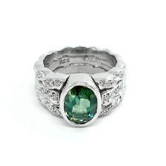 Splash out on some splendour this weekend with Kaufmann's Oceana Deluxe Ring.  Shop now >http://bit.ly/2szKnGp?utm_campaign=coschedule&utm_source=pinterest&utm_medium=Jewelstreet