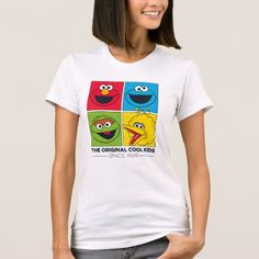 Sesame Street The Original Cool Kids T-shirt, Women's, Size: Adult S, White Cool Kids T Shirts, T Shirts For Women, Cheap Boutique Clothing, Clothing Stores, Kids Clothing, Kids Fashion Boy, Cheap Clothes, American Apparel, Colorful Shirts