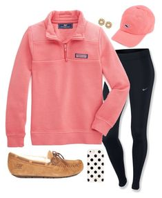 Day 3: Seeing the Lights by madiweeksss on Polyvore featuring NIKE, UGG Australia, Kate Spade, Vineyard Vines and twelvedaysofchristmas2k15