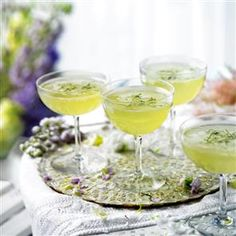 Cucumber, mint and elderflower champagne cocktail recipe. This delightful cocktail makes a refreshing start to any party.