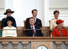 Princess Benedikte, CP Mary of Denmark, Prince Joachim, CP Frederik of Denmark, Princess Marie, Queen Margrethe of Denmark attend the opening session of Danish Parliament. October 4 2016