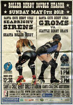 Santa Cruz Derby Girls #roller #derby #poster