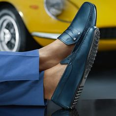 Tod's. Nice Shade of Blue...Men's Shoes